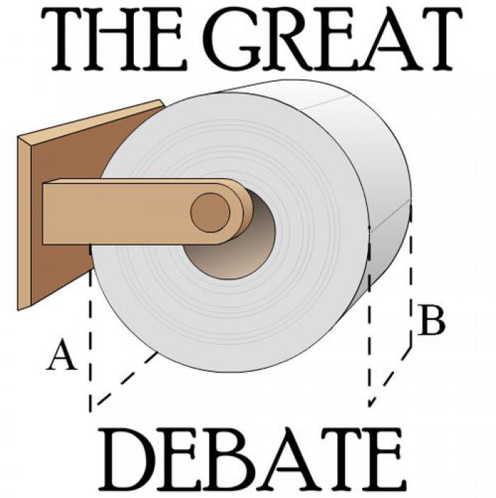 Image result for great debate toilet paper